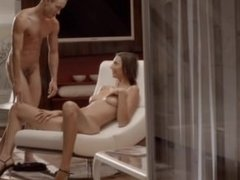 Luxury sex with luxury babe on a chair