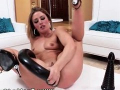 Blonde babe toy play gets a visitor who wants to play