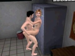 Sexy blonde 3D shemale hottie getting fucked hard