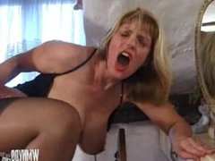Blonde English Mature Fucks With Toy And Cock Till Get Cum On Big Tits
