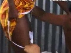 African Girl And Guy Get It On.