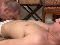 Hot gay pornstar jocks Alex and Cole fucking hard their sexy asses