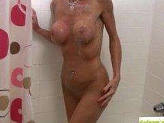 Armani Knight Soaps Up Mature Fake Tits
