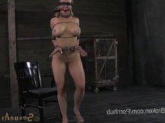 18 Year Old Sucks First Black Cock in Bondage