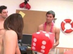 Young students coitus on college party