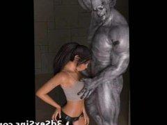 3D Lara Croft vs Scary Zombies!