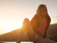 Sunset in Malibu in art undressing movie