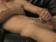 This sexy muscular hunk is jerking his big cock off