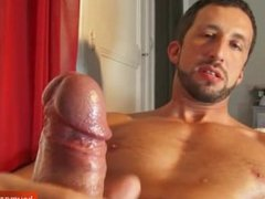 Andrea gorgous hunk get wanked his huge cock