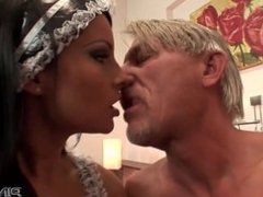 Euro maid loves anal sex and footjobs