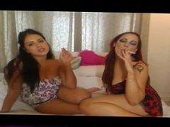 Lesbians loves smoke cig and smoking kisses - SMOKING FETISH -