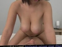 Awsome tits girl riding a huge cock