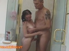 Hot TEEN fucks Step-Daddy in SHOWER