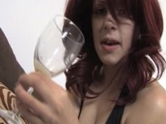 Redhead spit on cup