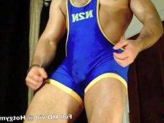 Big Wrestler Cock cum