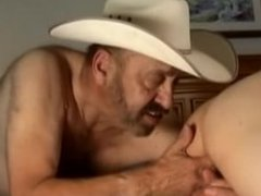 Older Cowboy and Friend Fuck Young Boy