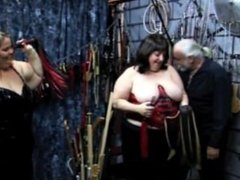 2 BBW's topless in a dungeon