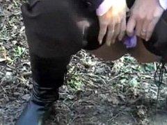 purple panty's pee outside