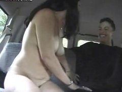 Charisma Capelli fucks off on backseat