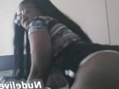 webcam masturbation - super hot ebony chick