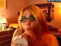 Webcams Free Amateur Blonde In Glasses Riding A Big Dildo - www.HOTCams.pw
