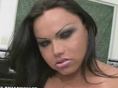 big breasted latina tranny babe tugging her cock