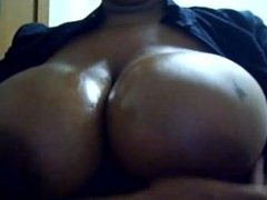 Big oily tits on webcam
