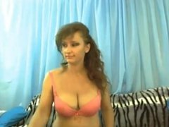 big breasted milf smokes and plays on cam