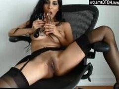 Live Cam Busty MILF In Sexy Hose Dildoing Her Cunt on Cam - www.HOTCams.pw