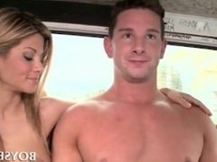 Handsome dude riding the sex bus for a hot fuck