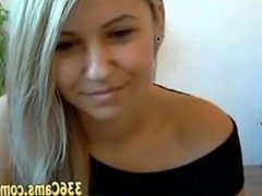 Cute Blonde Show On Webcam
