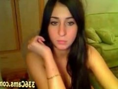Cute Girl Showing On Webcam
