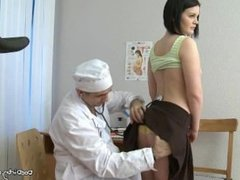 Brunette Rita Undresses And Spreads Legs For Medical Exam