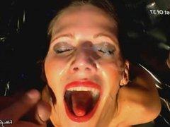 German Brunette Satisfies Her Cum Cravings
