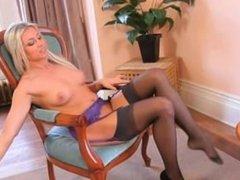 nice russian blond in livingroom