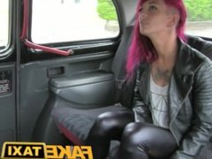 Fake Taxi Rock chick with tattoos gets real dirty