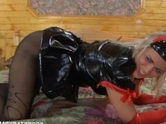 Nurse in black pantyhose