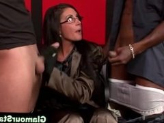 Fetish glam euro hoe sucks dick