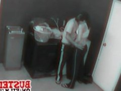 Security camera films couple fucking