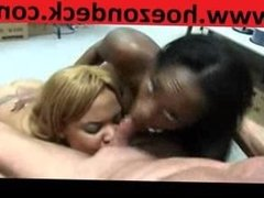 Massive Black Girls Suck White Cock