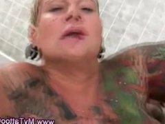 Tattoo slut fuck and cumshot