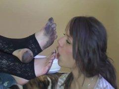 Polish cute girl - clean my dirty feet