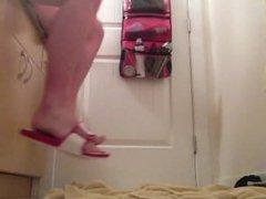 Huge dildo in my ass, first video