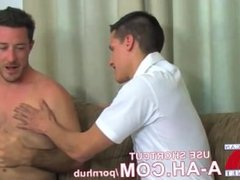 Slurping Uncut Cock