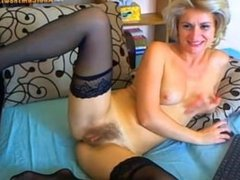 Russian babe playing with pussy on cam