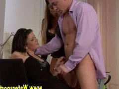 Pissing threesome glam sluts
