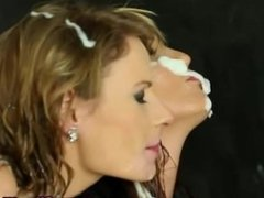 Bukkake glamour sluts wet sliming