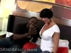Hot MILF with huge boobs Shay Fox seduces big black male
