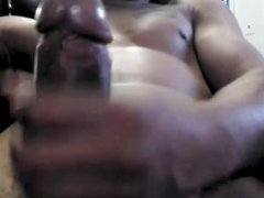 Stroking my rican cock