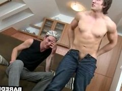 Two sexy muscular studs are giving head and fucking